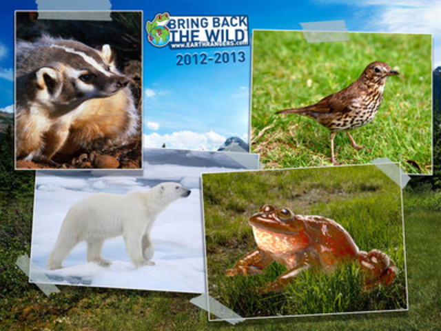 Earth Rangers' Four New Bring Back the Wild Projects. Choose an animal that you want to help protect! (CNW Group/Earth Rangers)