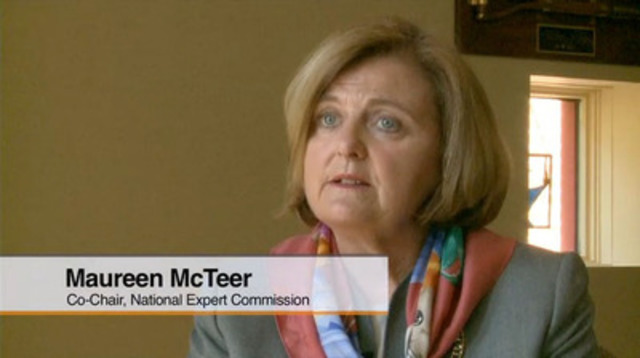 Video: The Commission has determined that a stronger, community-based, primary care model is required to enhance and balance the acute-care system Canada already has in place, says Co-Chair, Maureen McTeer.