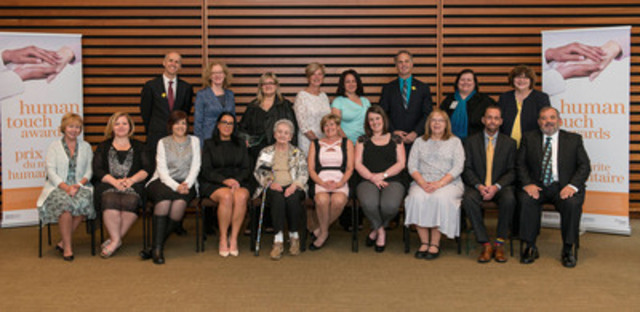 The ninth annual Human Touch Awards took place on April 23, 2015, honouring front-line cancer and renal care healthcare professionals, providers and volunteers from across the province. (CNW Group/Cancer Care Ontario)