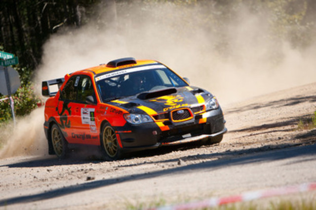 Driver Leo Urlichich and co-driver Martin Brady finished second overall in their 2007 Subaru Impreza WRX STI. (CNW Group/Subaru Canada Inc.)