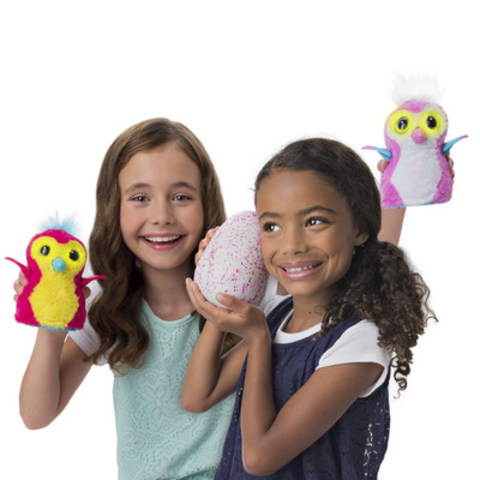 In a global launch today, Spin Master revealed Hatchimals, one of the most eagerly anticipated and innovative toys of the season. The plush Hatchimals incorporate advanced robotic technology to magically hatch from their eggs with a child's help and nurturing touch. Available now at retailers around the world. (MSRP $59.99 USD) (CNW Group/Spin Master)