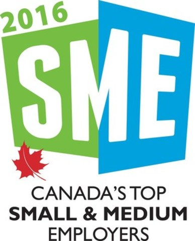 Canada's Top Small & Medium Employers 2016 (CNW Group/Mediacorp Canada Inc.)