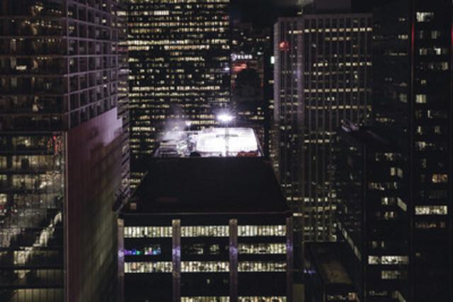 Molson Canadian #AnythingForHockey Rooftop Rink captured by Toronto Photographer Adeyemi Adegbesan @soteeoh (CNW Group/Molson Coors Canada)
