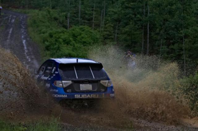 Subaru Rally Team Canada claims second at Rallye Baie des Chaleurs. www.worldrallysport.com (CNW Group/Subaru Canada Inc.)