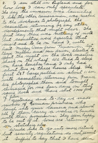 Letter from Sgt. McCaughey, CWM 20140022-002_06-09-44_p1-4, George Metcalf Archival Collection, Canadian War ...