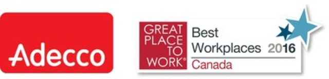 Adecco / Great Place to Work logo (CNW Group/Adecco Canada)