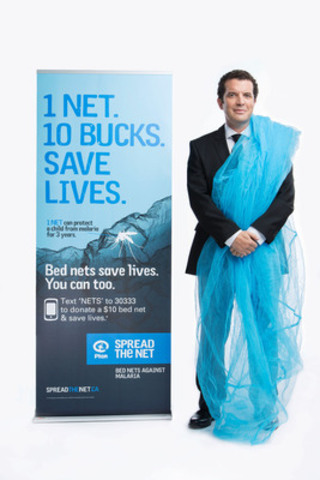 Rick Mercer urges Canadians to join the fight against malaria by donating a $10 bed net to a family in Africa through Plan Canada's Spread the Net campaign. (CNW Group/Plan Canada)