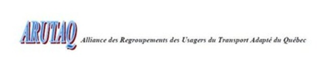 Alliance des Regroupements des usagers du transport adapté du Québec (ARUTAQ) (Groupe CNW/Alliance des Regroupements des usagers du transport adapté du Québec (ARUTAQ))