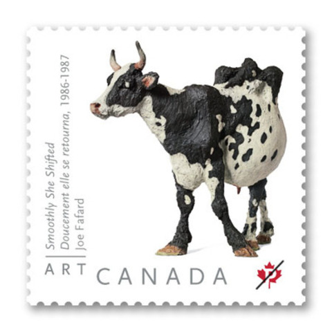 Fafard's popular bovine sculpture (CNW Group/Canada Post)