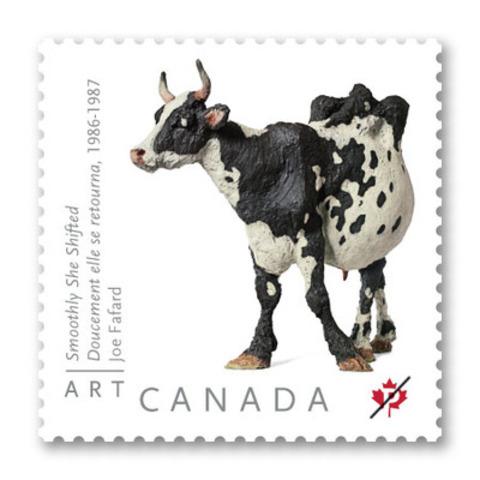 Fafard's popular bovine sculpture (CNW Group/Canada Post)