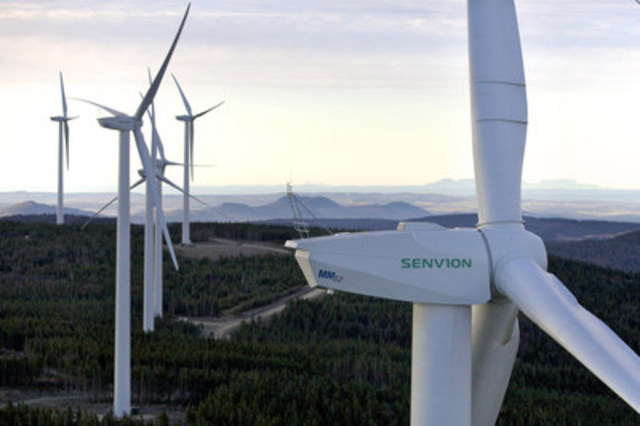 Massif du Sud wind farm, 2013 (CNW Group/Senvion Canada Inc.)