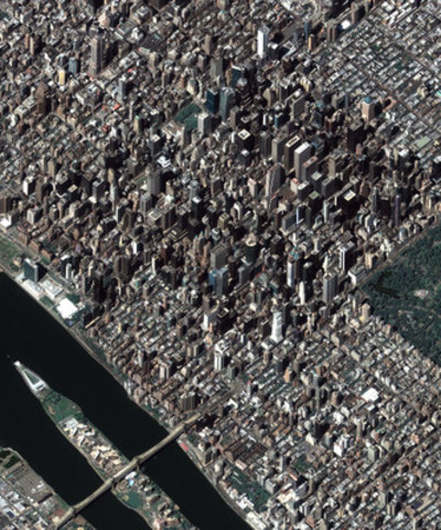New York City, U.S., captured from Deimos-2, August 2014. (CNW Group/UrtheCast Corp.)