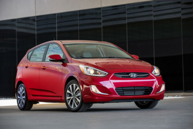 The Hyundai brand ranked fourth for the second consecutive year as the company's Accent subcompact (pictured) and Tucson compact SUV won their segments in the 2015 J.D. Power U.S. Initial Quality Study. Hyundai has been investing in vehicle quality by setting-up a Global Quality Situation Room with engineers that monitor and fix quality issues in real-time 24 hours per day, 365 days a year. (CNW Group/Hyundai Auto Canada Corp.)