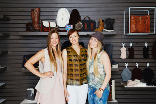 On November 15, CALL IT SPRING and Olympic freestyle skiers, the Dufour-Lapointe sisters, will launch their Après-Ski collection across Canada. (CNW Group/ALDO Group)