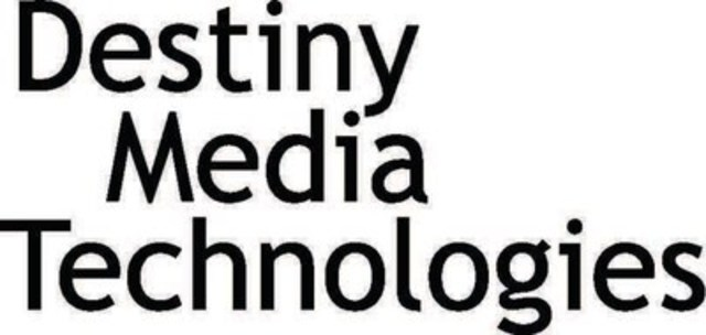 Destiny Media Technologies, Inc. (CNW Group/Destiny Media Technologies, Inc.)