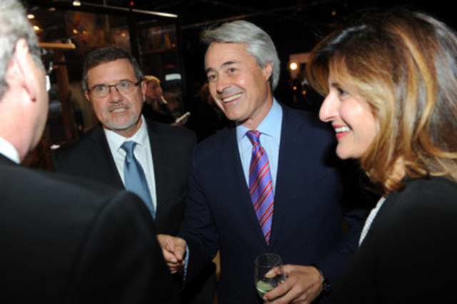 Last night, more than 500 guests attended the RBC Innovators' Ball, raising funds for the Ontario Science Centre's community access programs. Pictured in photo 1(L-R) Dr. Maurice Bitran, CEO, Ontario Science Centre, Chris Tambakis, CEO North America, Adgar Investments & Development and Laurissa Canavan. (photo credit: George Pimental Photography) (CNW Group/Ontario Science Centre)