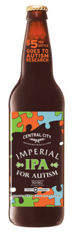 Imperial IPA for Autism raises $5 from each bottle sold. (CNW Group/Central City Brewers + Distillers Ltd.)