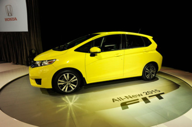 The all-new 2015 Honda Fit is unveiled at the Canadian International Auto Show (CNW Group/Honda Canada Inc.)