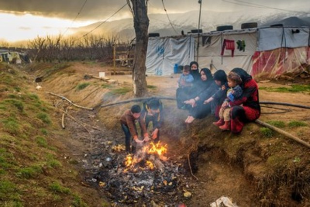 In Lebanon, a Syrian refugee family burns garbage - mostly plastic - to stay warm. World Vision warns that ...