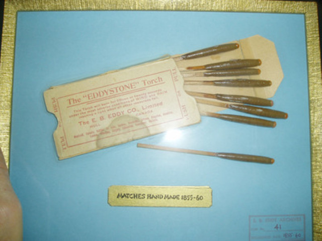 E.B Eddy matchsticks, circa 1855. (CNW Group/Domtar Corporation)