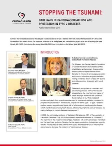 Cardiac Health White Paper (CNW Group/Cardiac Health Foundation Of Canada)