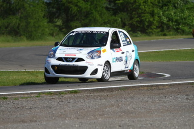 Stefan Rzadzinski, from Edmonton (AB), is third in the standings after his victory at the Canadian Tire Motorsport Park. He's still in the running to secure the championship title. (CNW Group/Nissan Canada Inc.)