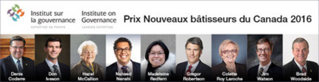 Prix Nouveaux bâtisseurs du Canada 2016 (Groupe CNW/Institute on Governance)