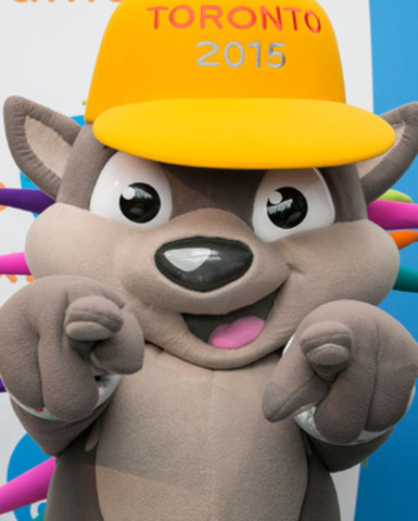 One year since his unveiling as the official mascot of the TORONTO 2015 Games, PACHI is throwing a birthday bash to celebrate with all his friends. (CNW Group/Toronto 2015 Pan/Parapan American Games)
