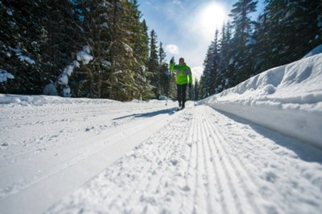 Cross-country skiing at Camp Mercier in Réserve faunique des Laurentides (CNW Group/Société des ...