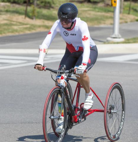 Shelley Gautier (Toronto, Ont.), 12 fois championne de monde, est parmi les paracyclists mis en nomination pour l'equipe paralympique canadienne des Jeux paralympiques de Rio 2016. (Groupe CNW/Comité paralympique canadien (CPC))