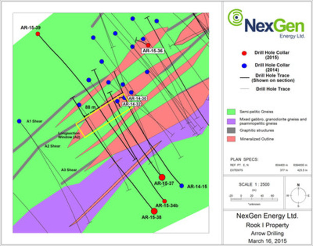 Figure 1: Plan view of Arrow Zone (CNW Group/NexGen Energy Ltd.)