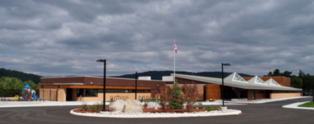 Institutional-Commercial <$10M Wood Design Award Winner: St. Victor Catholic School, Mattawa, ON; Architect:  ...