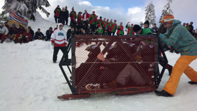 Western Engineering Toboggan Team getting ready to race (CNW Group/Holcim Canada Inc.)