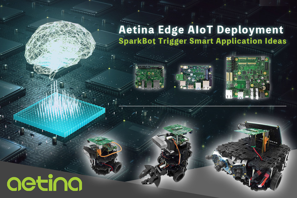 Aetina SparkBot enlightens edge AIoT by offering smart ideas, platform pre-integration, and AI concept distributing to all intelligent developers