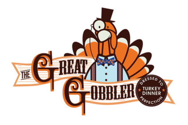 The Great Gobbler logo. The Great Gobbler serves Turkey Dinners in Toronto, Dressed to Perfection. Offered Year-Round, 72 Hours Notice. www.thegreatgobbler.com (CNW Group/L-eat Catering)