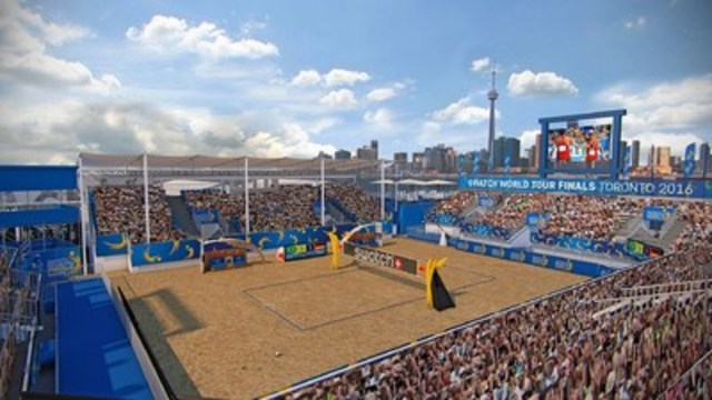 Toronto to host Swatch Beach Volleyball FIVB World Tour Finals in September 2016 at Polson Pier (CNW Group/Swatch Beach Volleyball Major Series)
