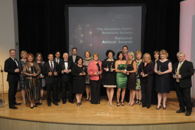 Silver and Bronze Award of Excellence winners. (CNW Group/Canadian Public Relations Society)