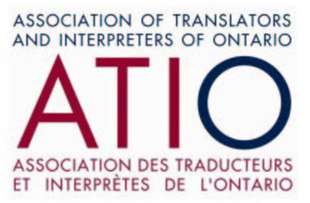 L'Association des traducteurs et interprètes de l'Ontario (Groupe CNW/The Association of Translators and Interpreters of Ontario) (Groupe CNW/L'Association des traducteurs et interprètes de l'Ontario)