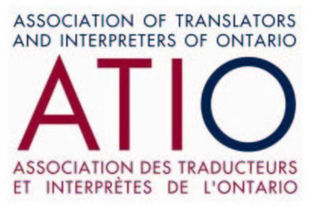 L'Association des traducteurs et interprètes de l'Ontario (Groupe CNW/The Association of Translators and Interpreters of Ontario) (Groupe CNW/L'Association des traducteurs et interprètes de l'Ontario)