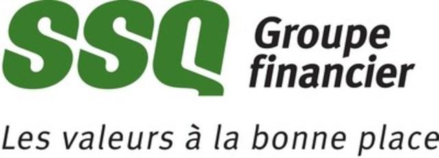 Logo : SSQ Groupe financier - Les valeurs à la bonne place (Groupe CNW/SSQ GROUPE FINANCIER)