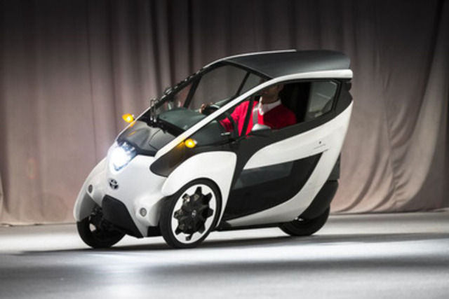 Future of Mobility: The Toyota i-Road Concept Vehicle Makes Canadian Debut At Toronto Auto Show (CNW Group/Toyota Canada Inc.)