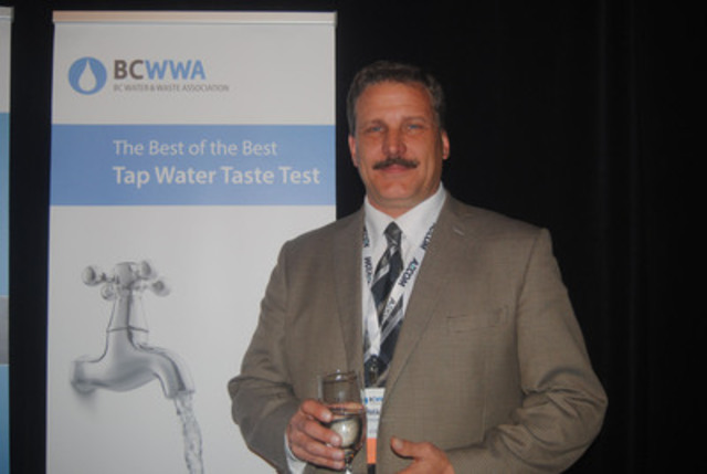 Mike Gosselin is the City of Kelowna's Wastewater Treatment Supervisor who accepted the award on Kelowna's behalf on May 6, at the BCWWA Annual Conference in Whistler. (CNW Group/BC Water and Waste Association)