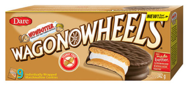 New Dare Wagon Wheels Wowbutter® taste just like peanut butter but are peanut-free (CNW Group/Dare Foods Limited)