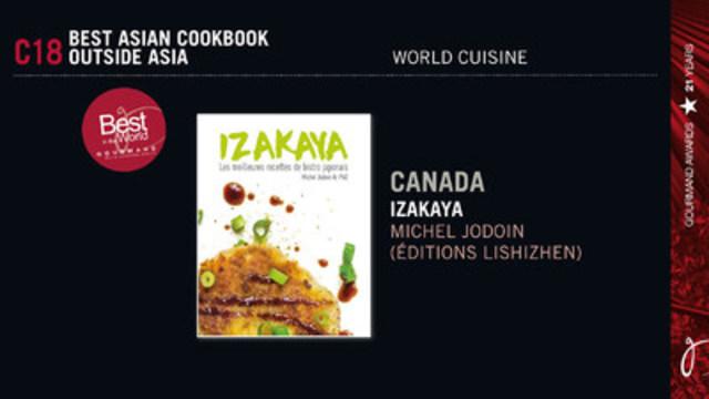 Michel Jodoin gagne le prix du meilleur livre de cuisine asiatique au monde ! (Groupe CNW/Clinique Michel Jodoin)
