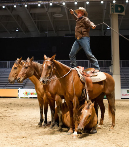 Australia's Guy McLean will be performing November 1-3 in the Royal Horse Show as well as the President's Choice Animal Theatre at the 91st Royal Agricultural Winter Fair which opens tomorrow and runs through November 10 at the Direct Energy Centre. For complete schedules visit www.royalfair.org. Photo credit: Ben Radvanyi (CNW Group/The Royal Agricultural Winter Fair)
