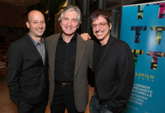Monsieur Lazhar's Oscar campaign gets underway with a screening for Academy voters in Los Angeles. Industry media are tracking the film as a top ten candidate in the Best Foreign Language Film category. (L-R) Luc Déry, producer; Michel Roy, Telefilm Canada; Philippe Falardeau, director (CNW Group/TELEFILM CANADA)