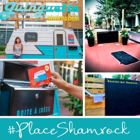Quelques-unes des installations de consultation autonomes disponibles sur la place Shamrock (Groupe CNW/Ville de Montréal - Arrondissement de Rosemont - La Petite-Patrie)