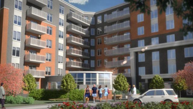 LIB Boisbriand, un prjet de Bâtimo, de Construction Voyer et du Fonds immobilier de solidarité FTQ (TLA Architectes) (Groupe CNW/Fonds immobilier de solidarité FTQ)