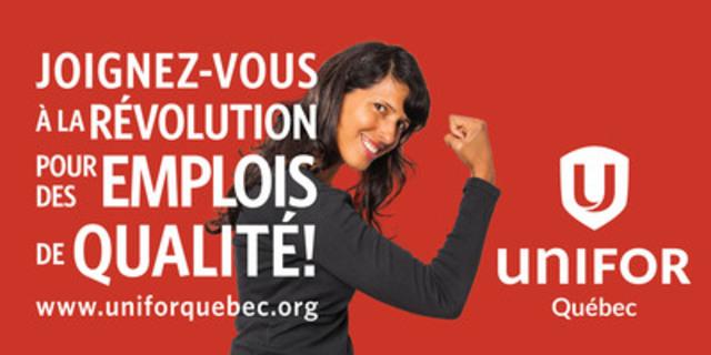 Les affiches d'Unifor devraient apparaître à Halifax, à Montréal, à Toronto, à Edmonton et à Vancouver le 7 octobre 2013. (Groupe CNW/Unifor)