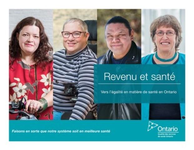 Un nouveau rapport par Qualité des services de santé Ontario révèle des différences importantes dans les risques pour la santé des gens, les soins et les résultats des personnes selon leur revenu. (Groupe CNW/Qualité des services de santé Ontario)